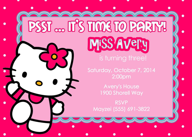 1000+ Ideas About Hello Kitty Invitation Card On Pinterest