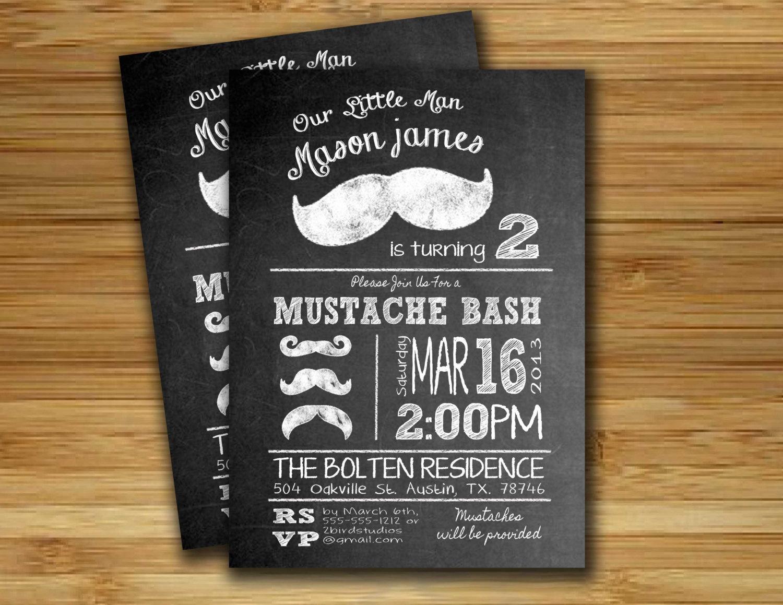 Mustache invitations