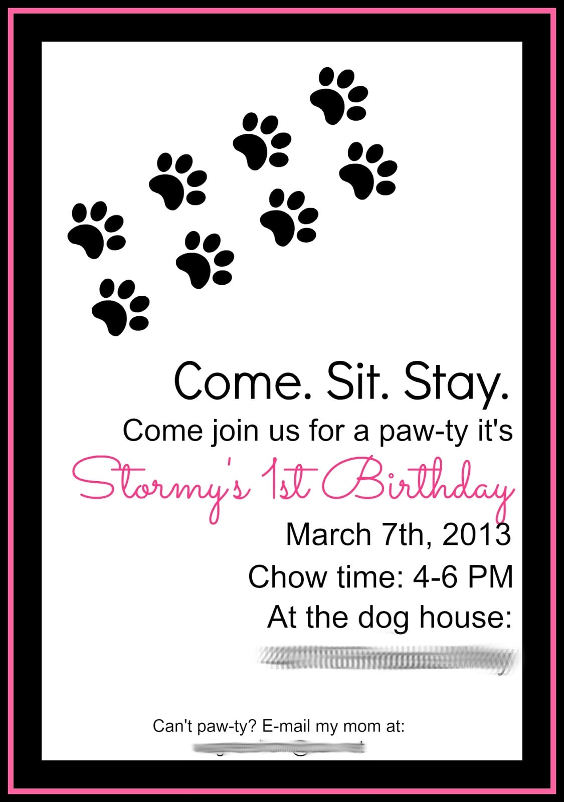 Dog Birthday Party Invitation Mickey Mouse Invitations Templates - Dog party invitations template