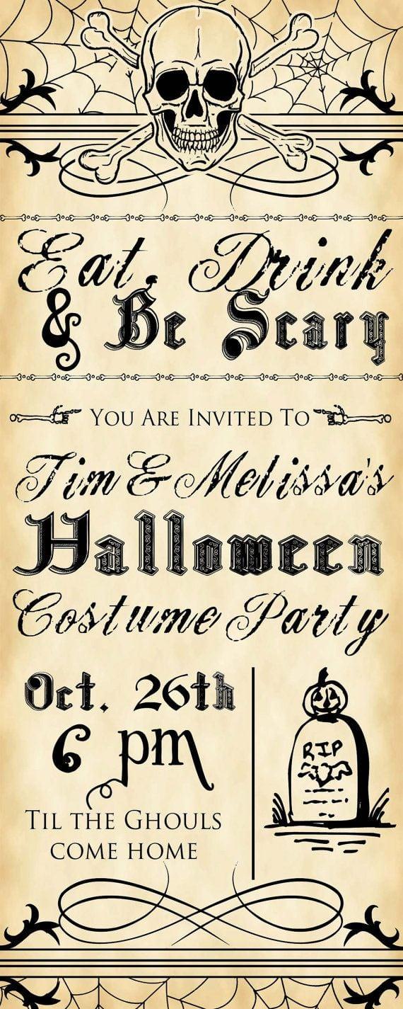 Scary Party Invitations - Mickey Mouse Invitations Templates