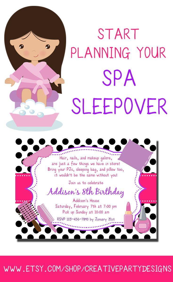 Spa Slumber Party Invitations - Mickey Mouse Invitations Templates