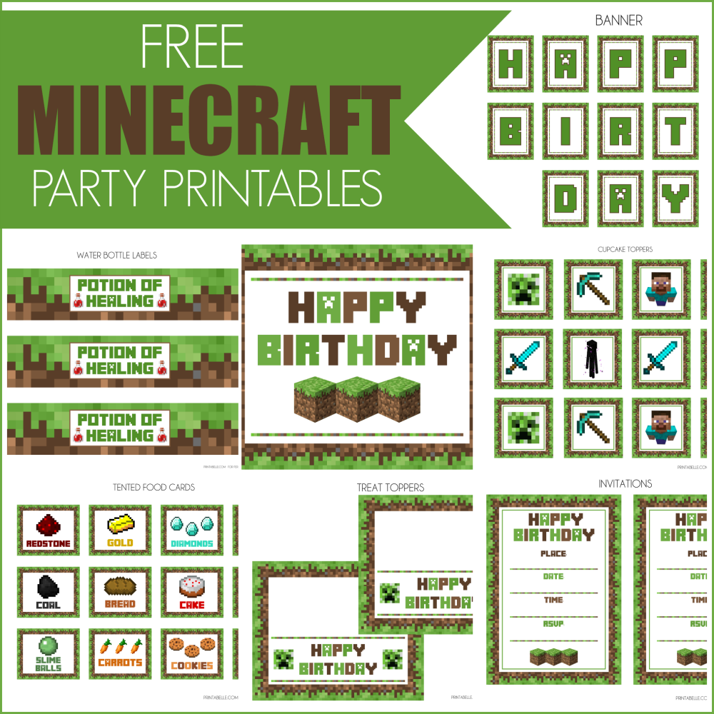 1000+ Images About Minecraft Party On Pinterest