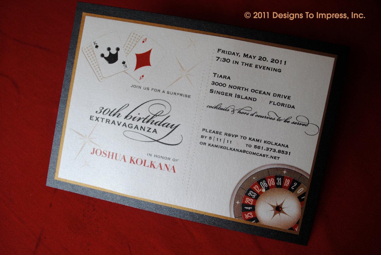 Casino Night Party Invitations Mickey Mouse Invitations Templates - Casino birthday invitation templates