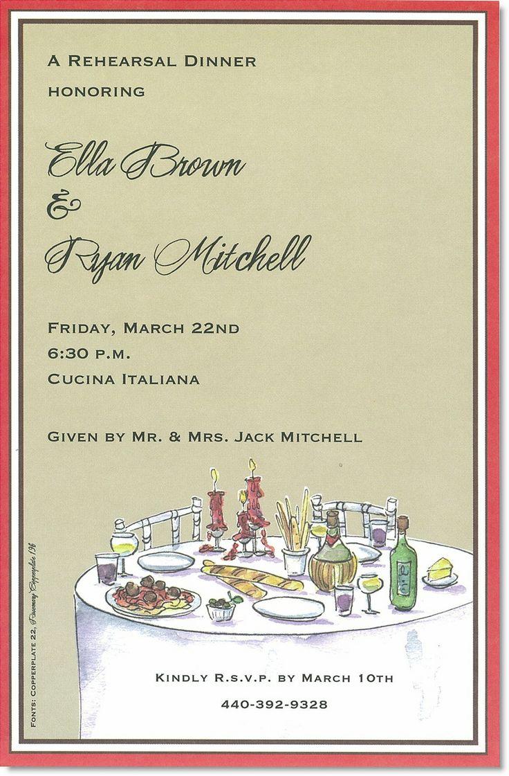 Italian Themed Party Invitations