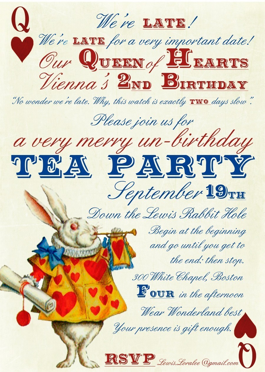 Mad Hatter Tea Party Invitations Printable - Mickey Mouse ...