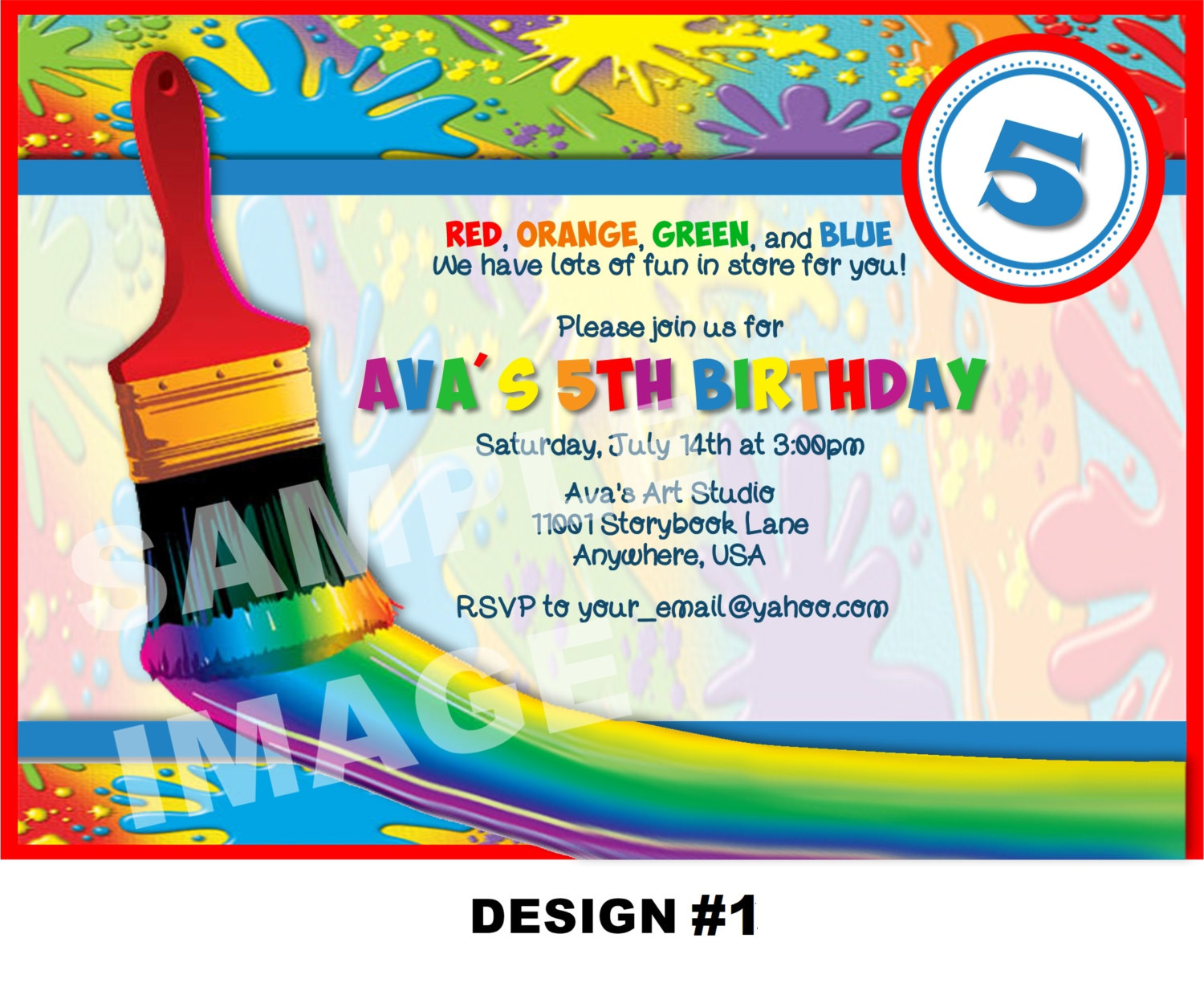 10 Excellent Art Birthday Party Invitations