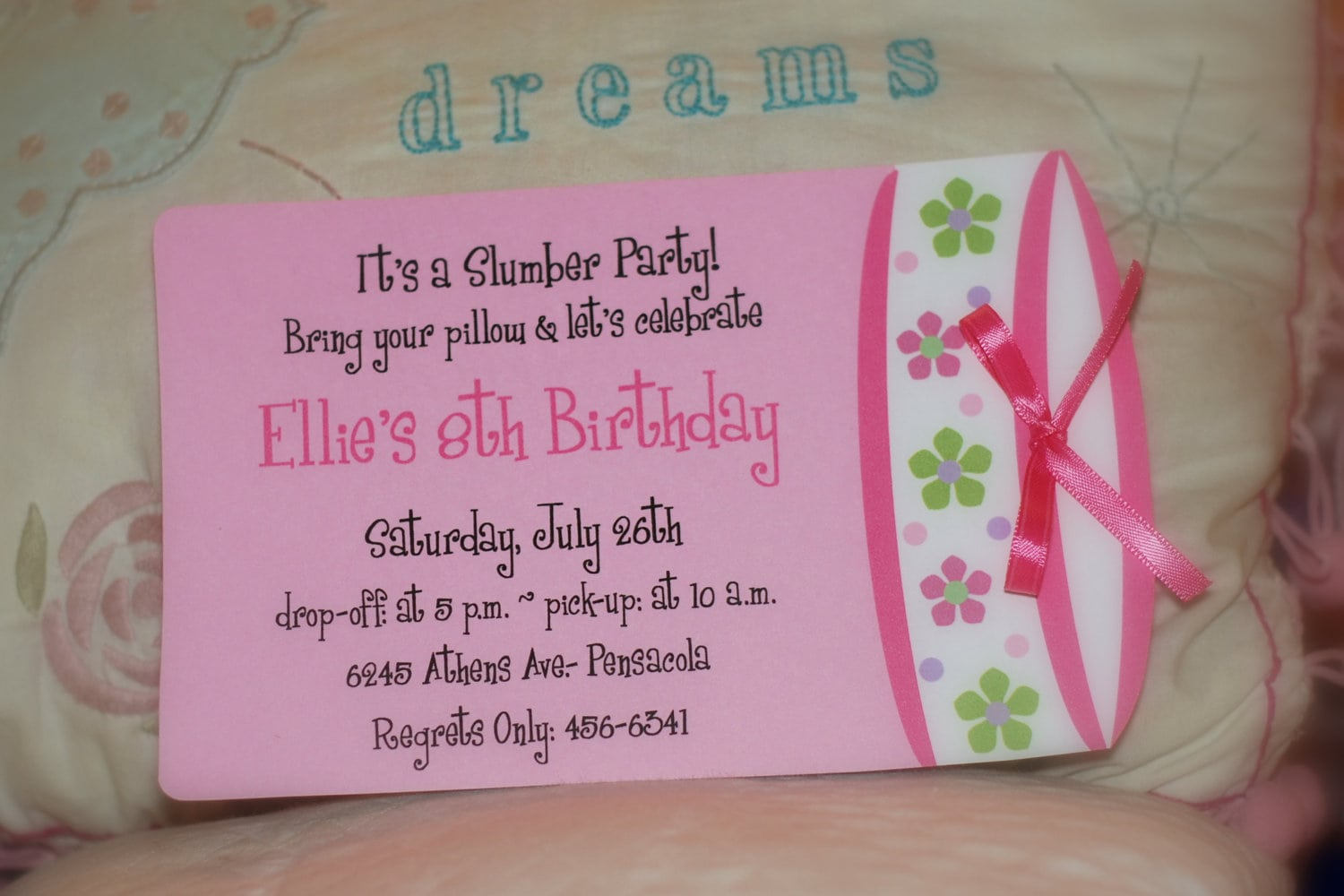 10 Spa Party Or Sleepover Birthday Party Invitations Or Slumber