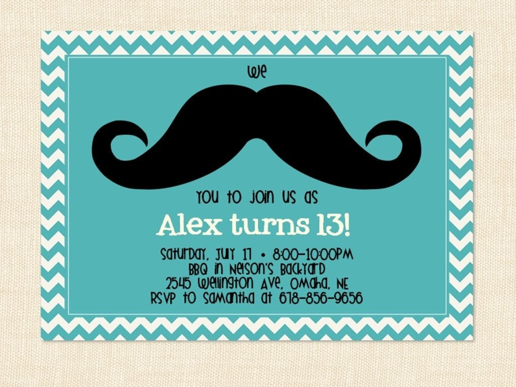 10 Year Old Birthday Invitation Wording 13th Birthday Party