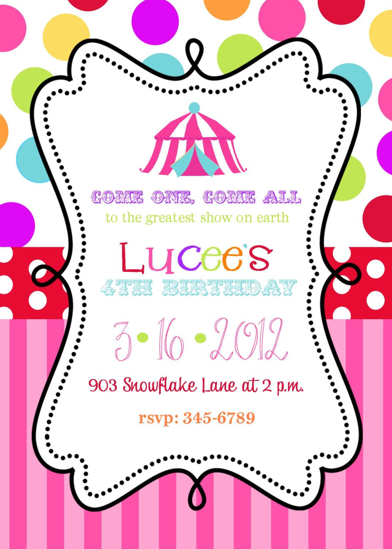 11 Marvelous Circus Birthday Party Invitations
