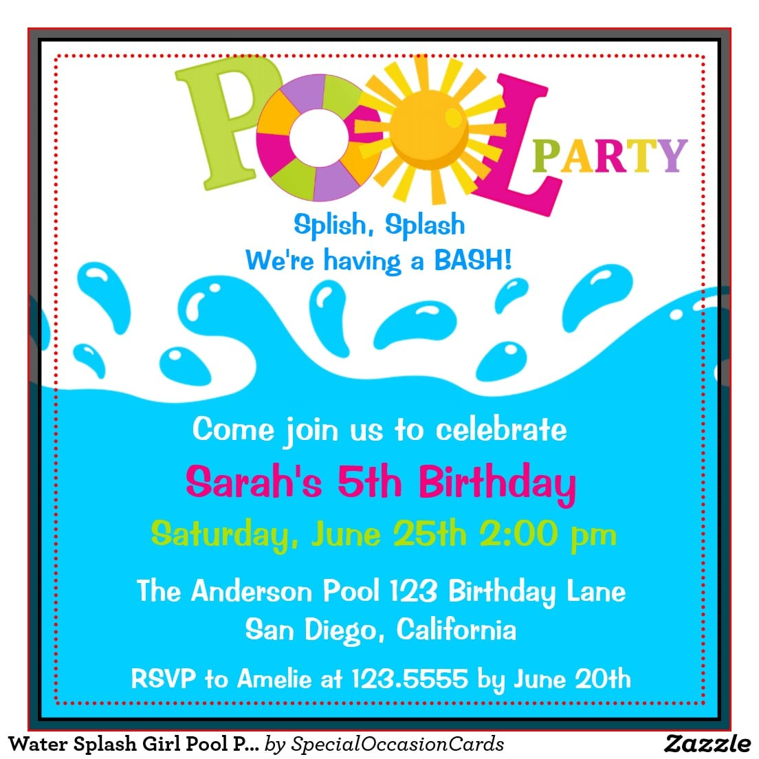 pool party invitation template word ukrobstep com birthday invitation templates 2017 pool party