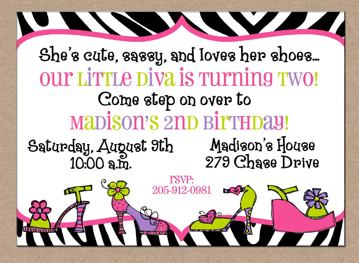 12 Personalized Printed Girl Diva Shoes Dress Up Fashion Show