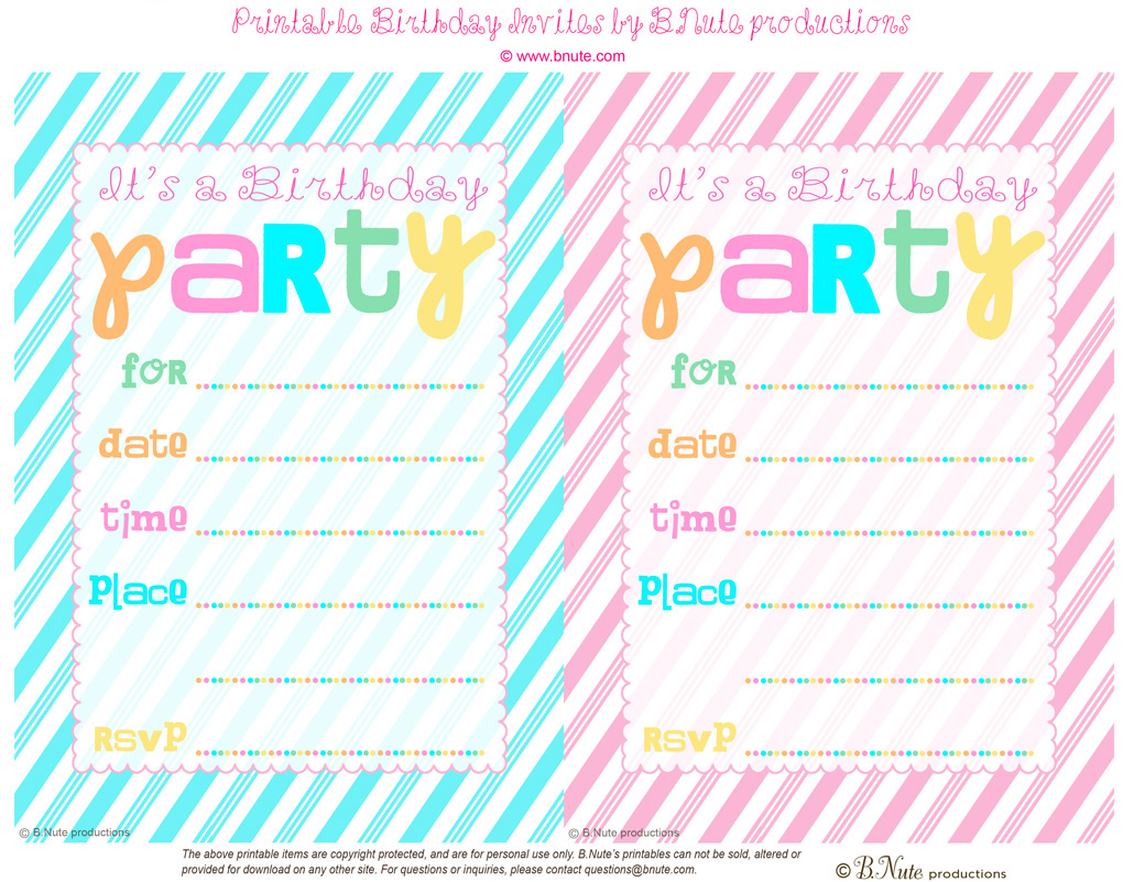 13 Year Old Birthday Invitations
