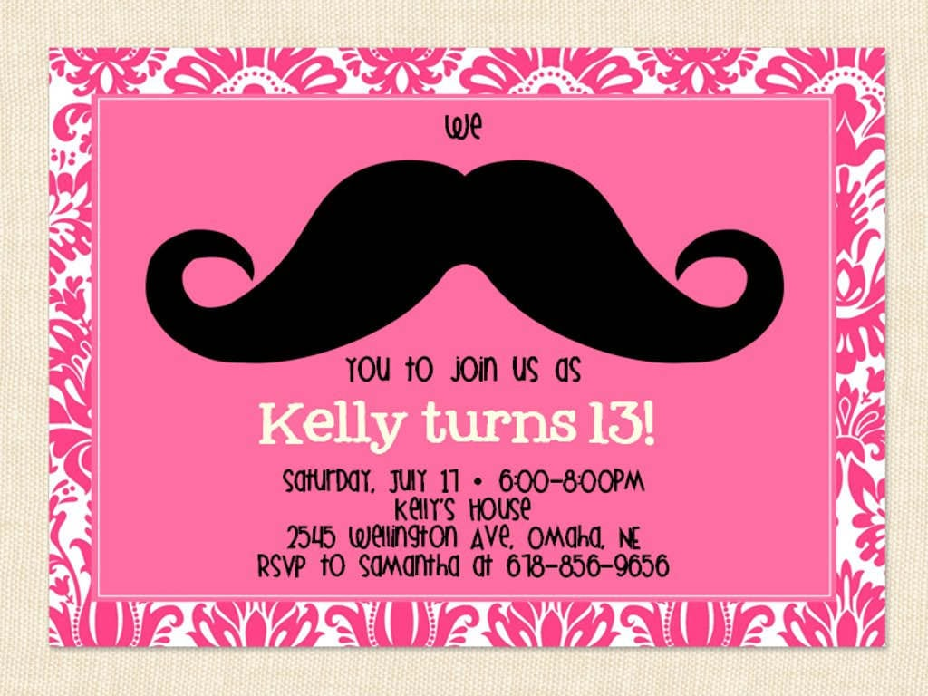 13th Birthday Party Invitation Templates