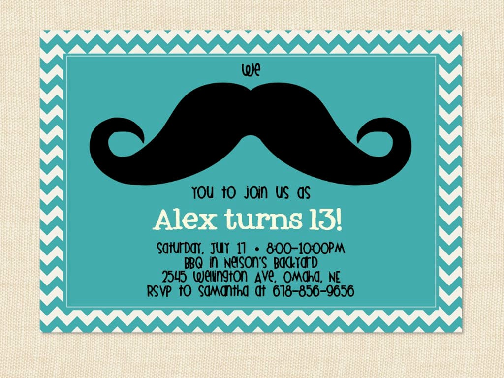 13th Birthday Party Invitations – Boys & Girls