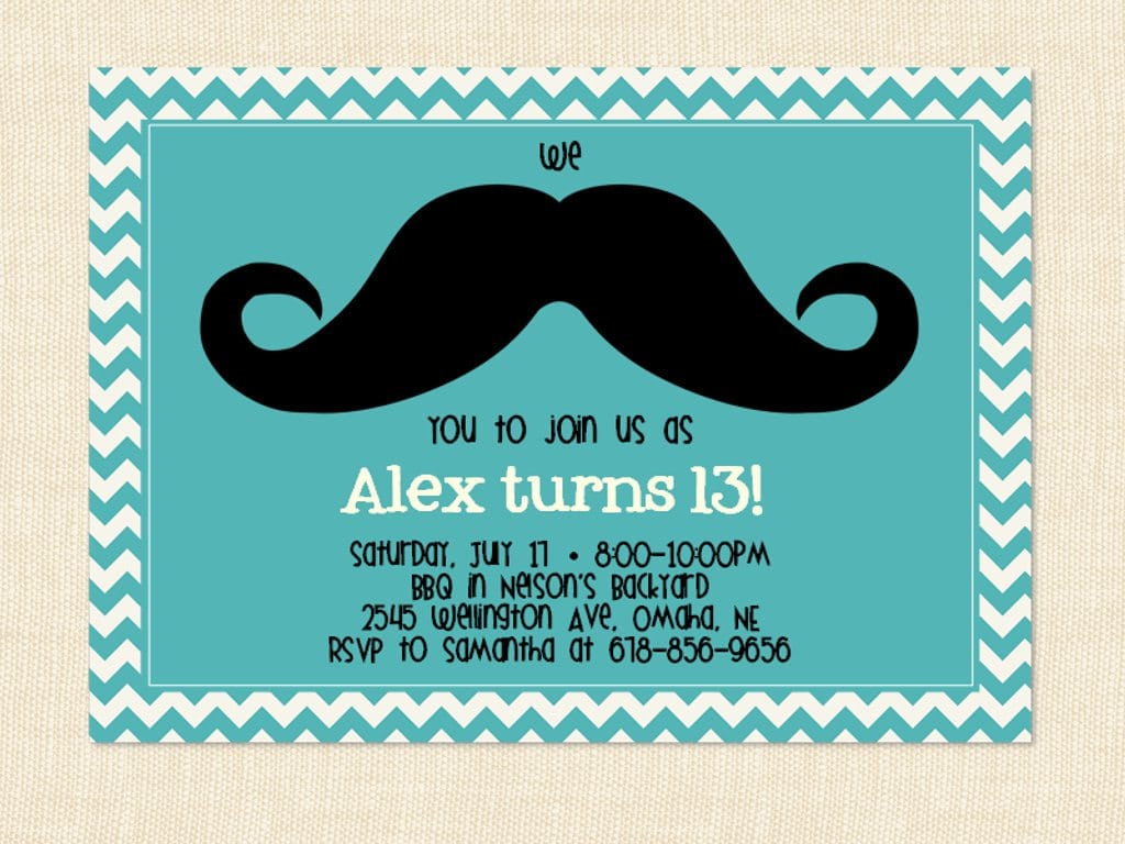 13th Birthday Party Invitations Templates