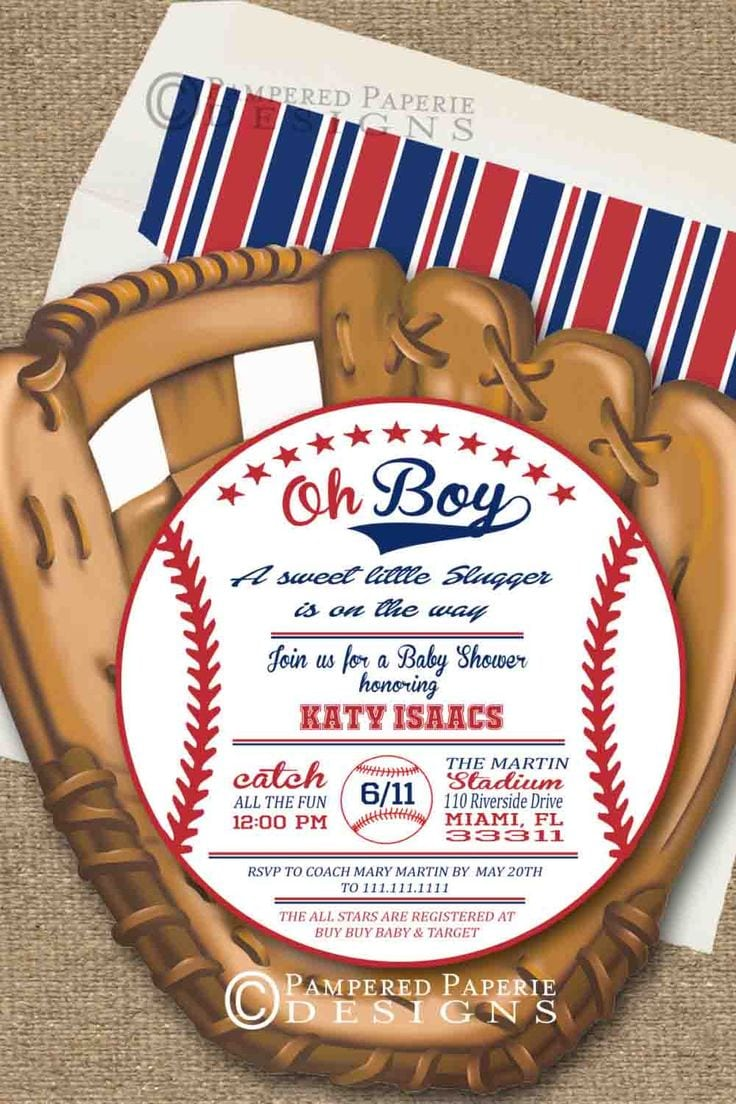 17 Best Ideas About Baseball Party Invitations On Pinterest