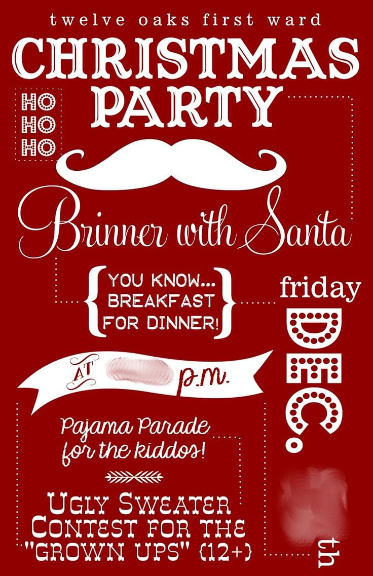 17 Best Ideas About Christmas Party Invitations On Pinterest
