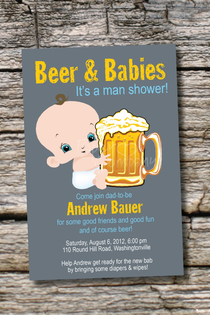 17 Best Ideas About Diaper Party Invitations On Pinterest