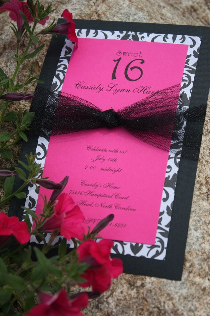 17 Best Ideas About Homemade Invitations On Pinterest