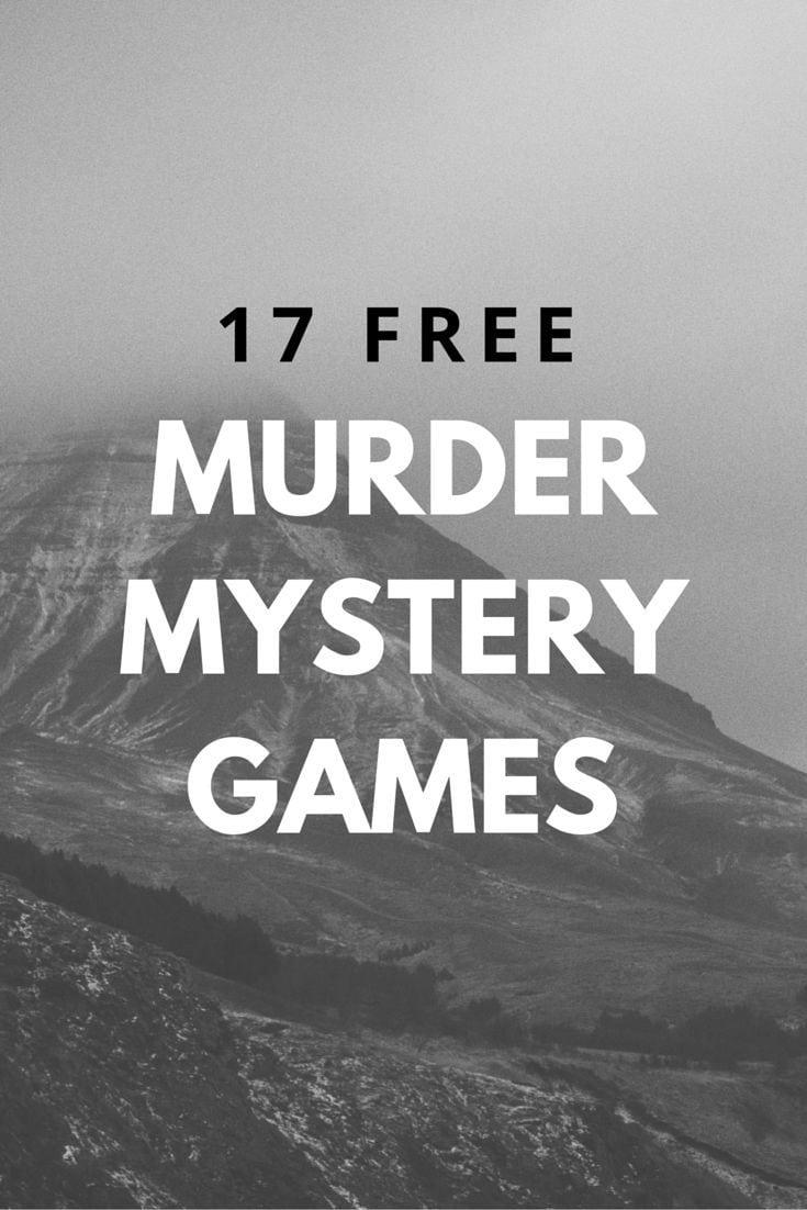 17 Best Ideas About Murder Mystery Parties On Pinterest