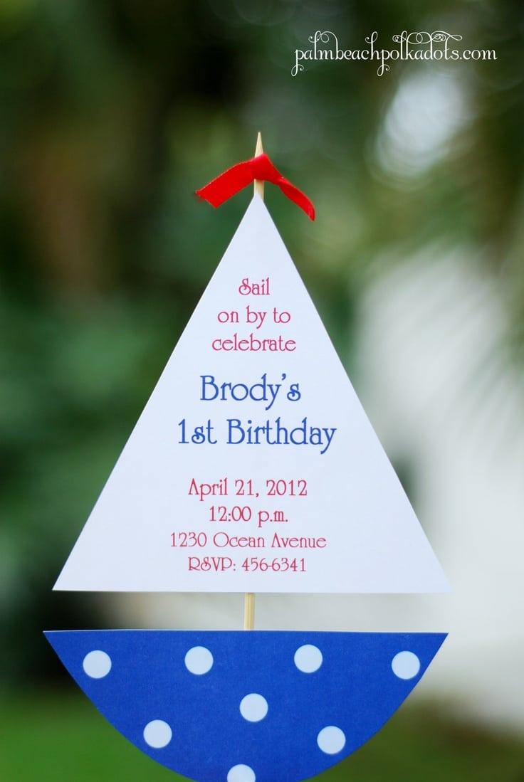 17 Best Ideas About Nautical Birthday Invitations On Pinterest