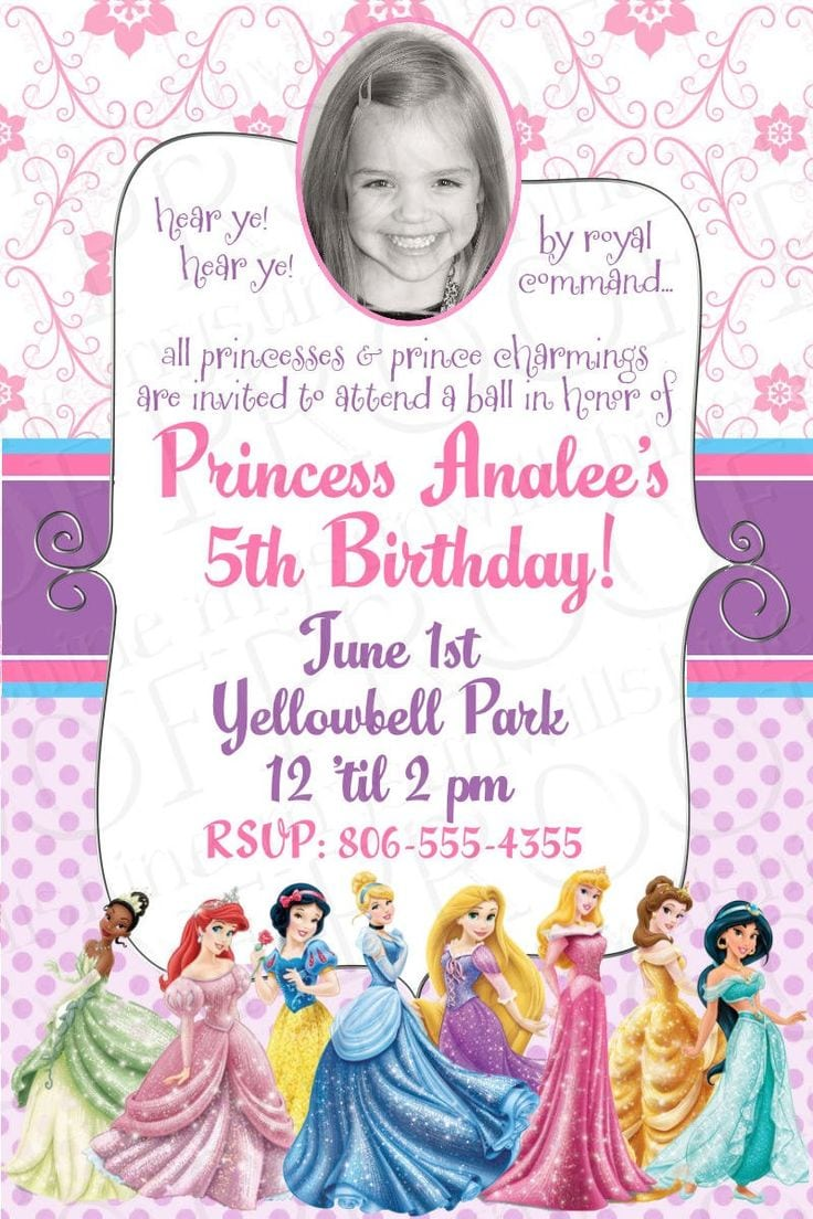 17 Best Ideas About Princess Birthday Invitations On Pinterest