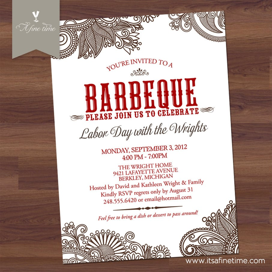 17 Best Images About Barbeque Party Invitations On Pinterest