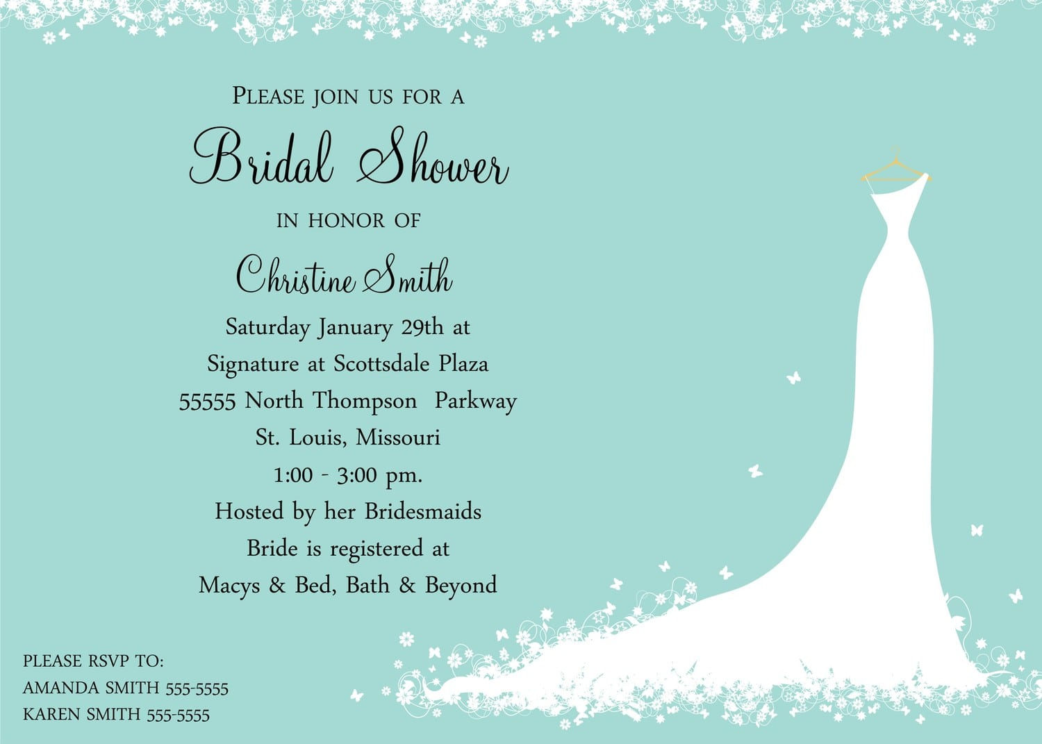 17 Best Images About Bridal Shower Invitations On Pinterest