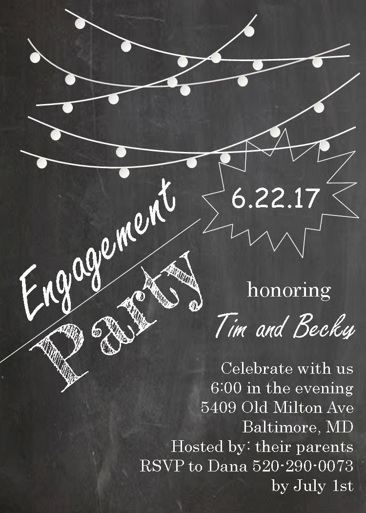17 Best Images About Engagement Invitations On Pinterest