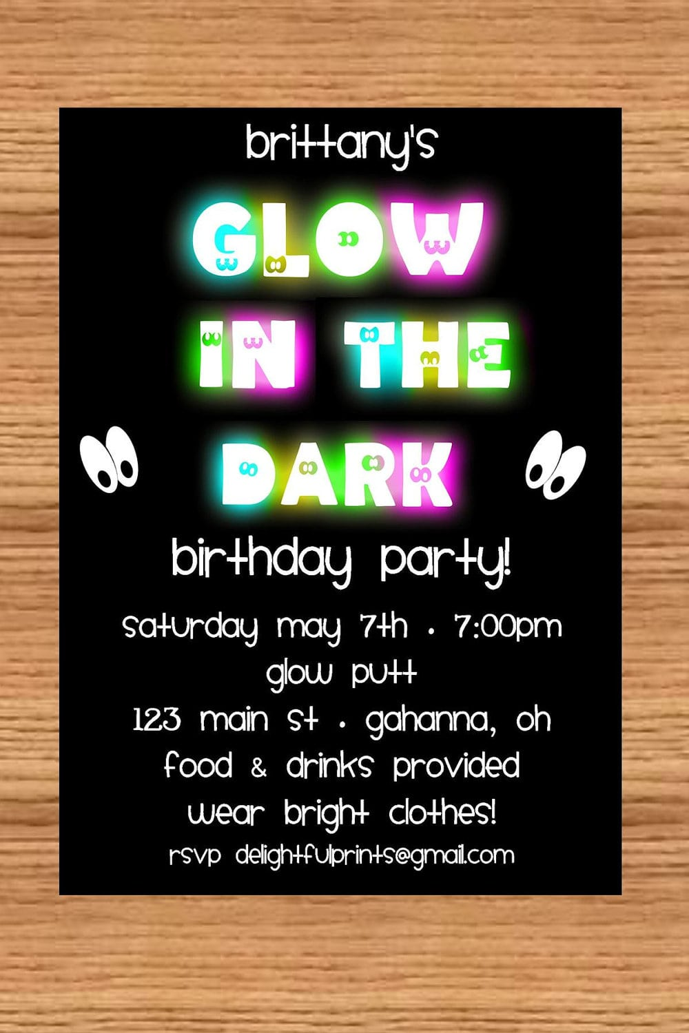17 Best Images About Glow In The Dark Birthday Party On Pinterest