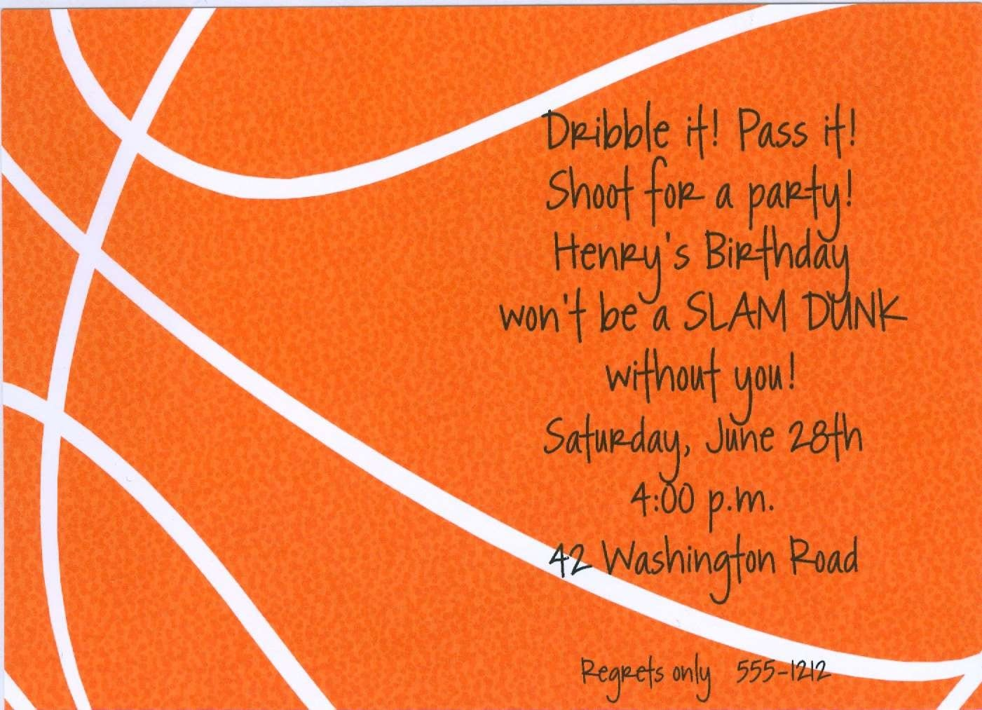 17 Best Images About Invitations For Basketball Bar Mitzvah On
