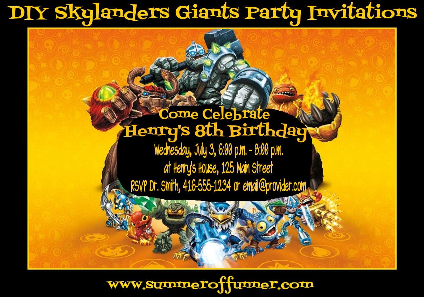 17 Best Images About Jack's Skylander's Party On Pinterest