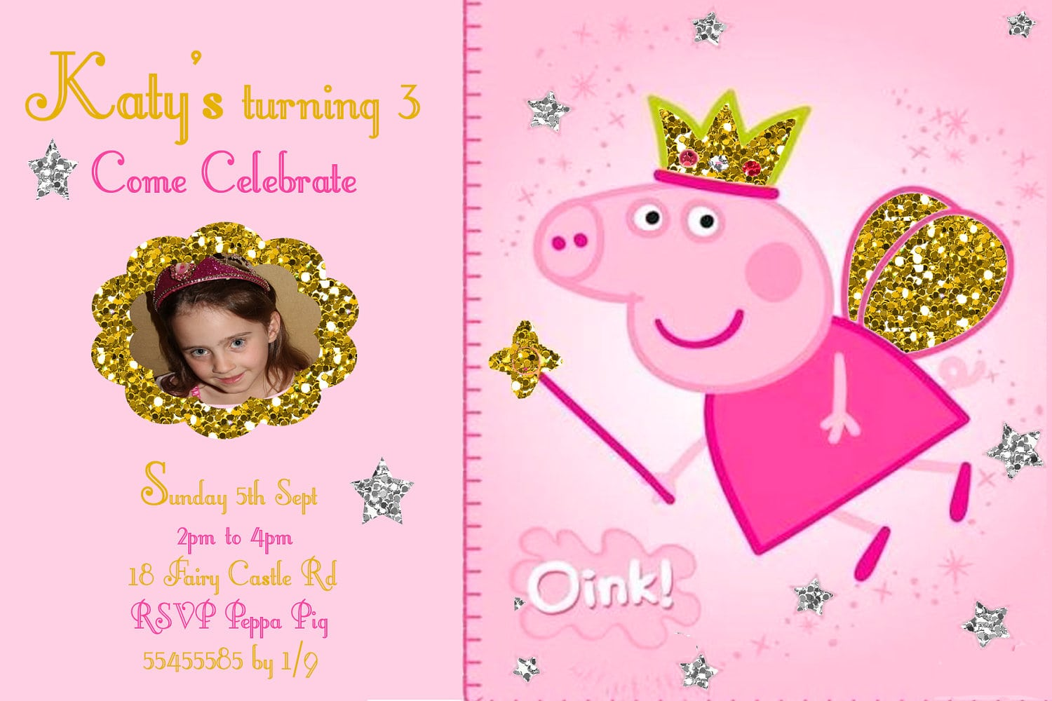 17 Best Images About Peppa Pig Invitations On Pinterest