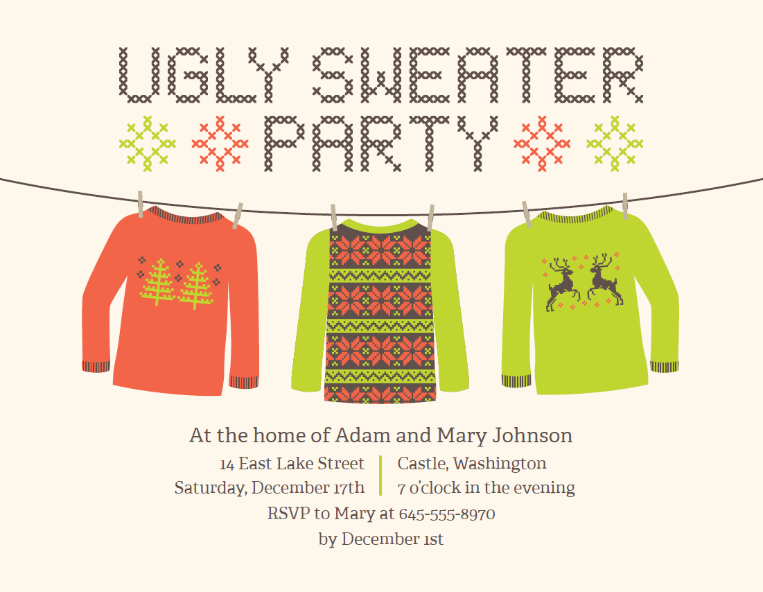 17 Best Images About Ugly Christmas Sweater Party On Pinterest