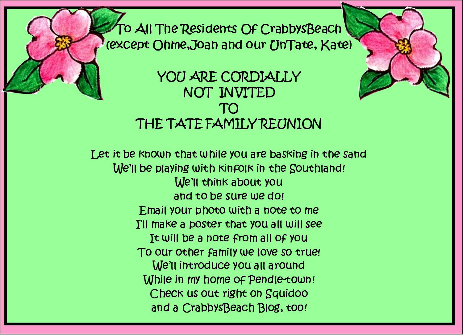 Reunion party invitation choice image party invitations ideas reunion invitations templates recommendation letter from employer reunion party invitation mickey mouse invitations templates 17 family stopboris Image collections