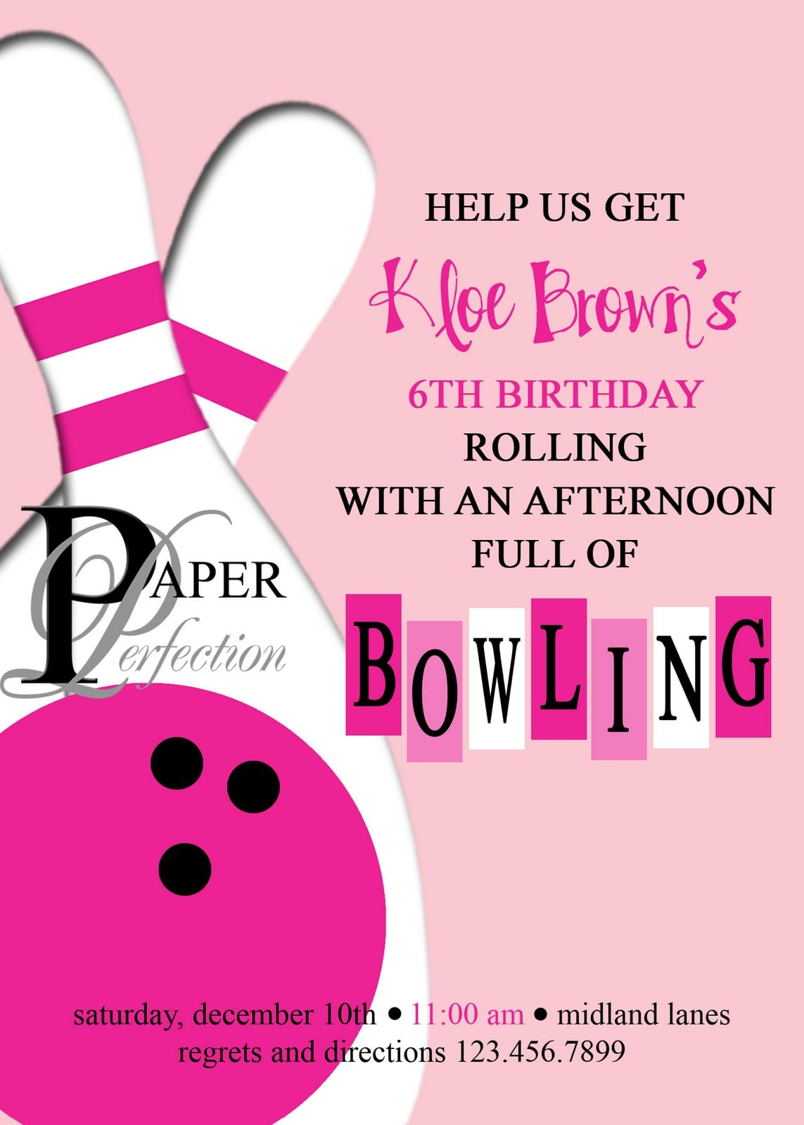 17+ Images About Tj Bowling Party On Pinterest