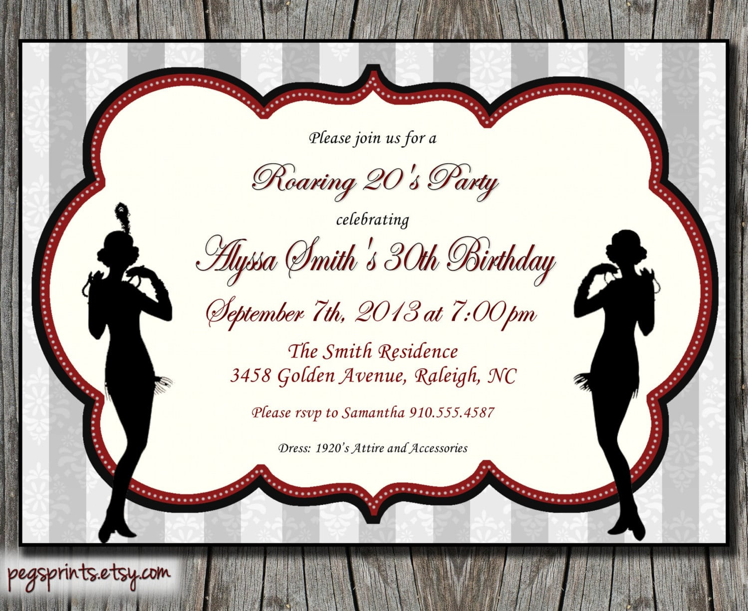 Roaring 20s Party Invitations - Mickey Mouse Invitations Templates
