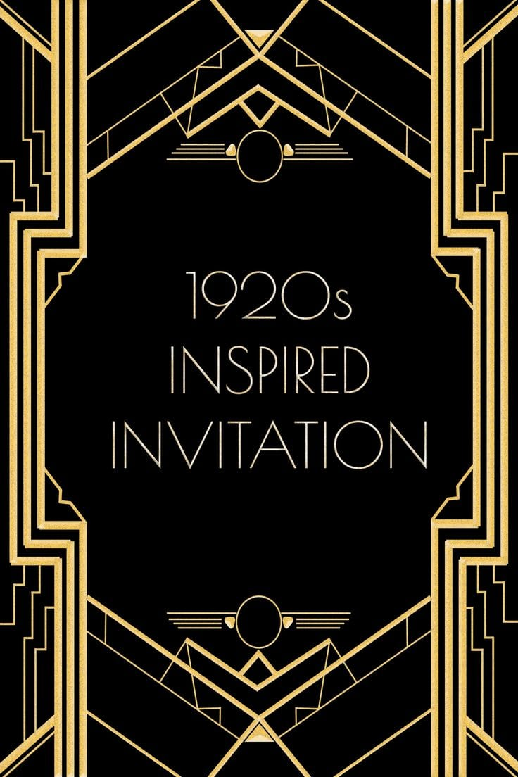 1920s Party Invitation Template  Use This 1920s Inspired