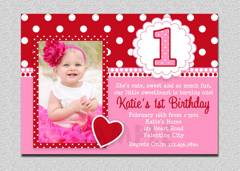1st Birthday Invitations Girl Templates
