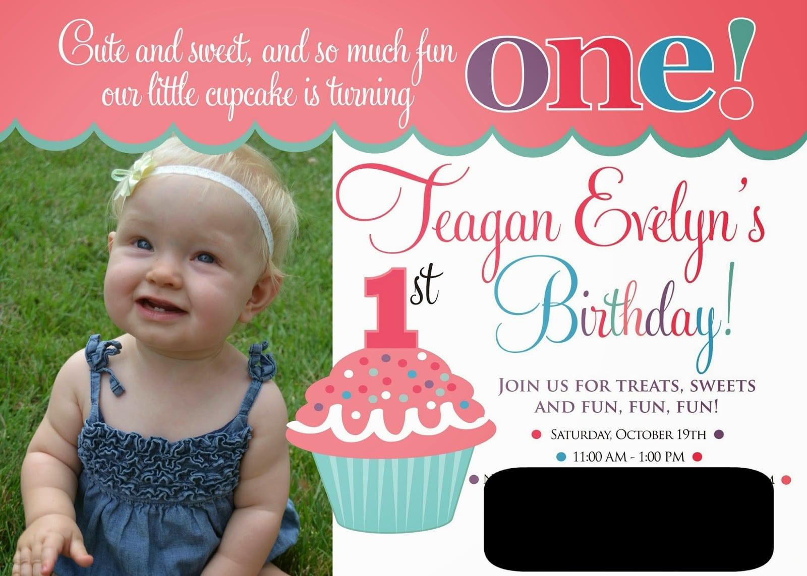 1st Birthday Party Invitations – Gangcraft Net