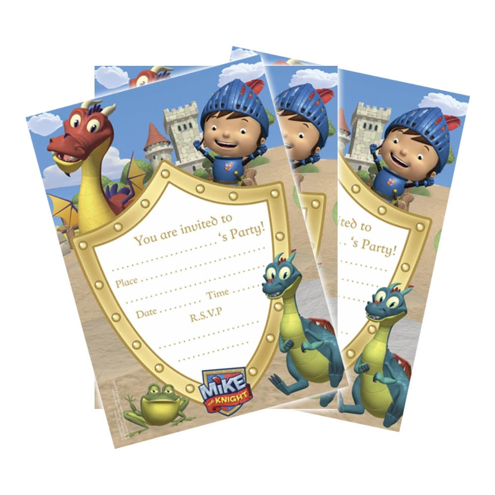 20 Mike The Knight Medieval Party Invitations Invites Plus