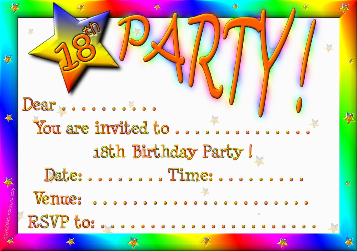 20 Staggering 18th Birthday Party Invitations