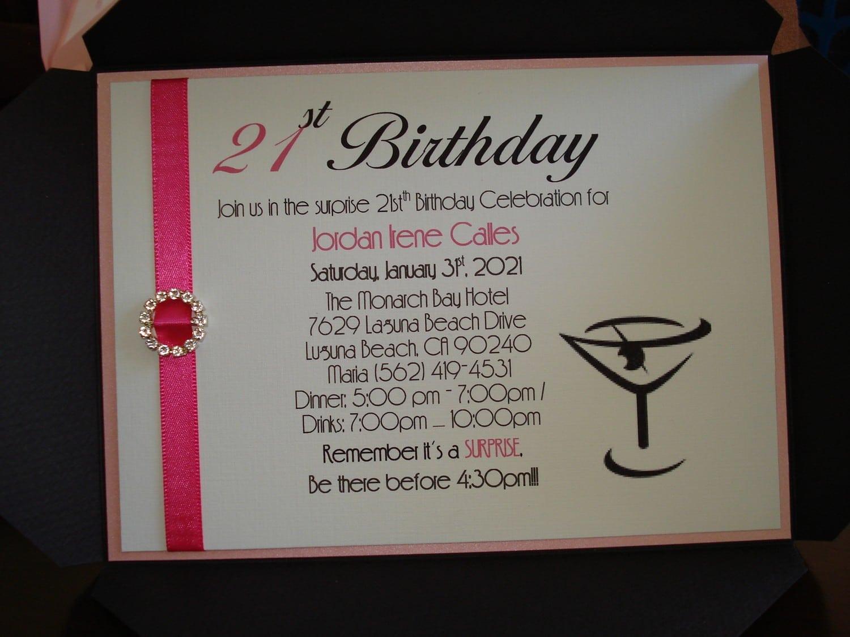 21st Birthday Party Invitations Printable