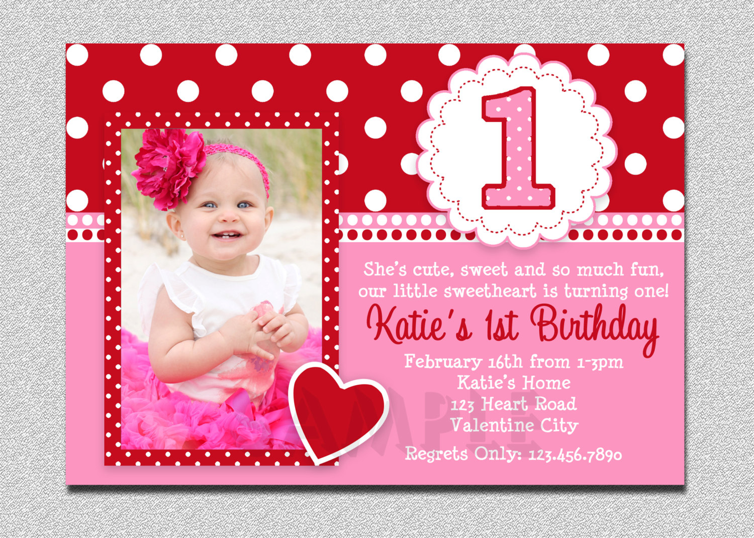 2 Outstanding Baby 1st Birthday Party Invitations