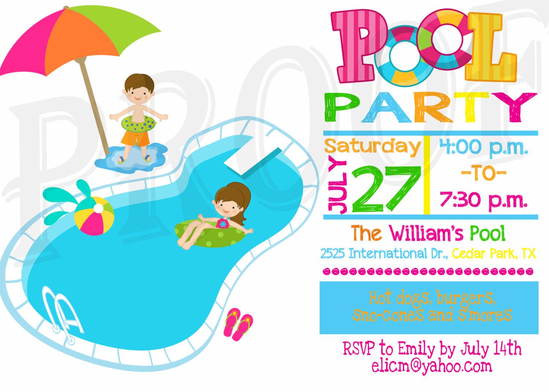 34 Pool Party Invitation Templates Free Printable