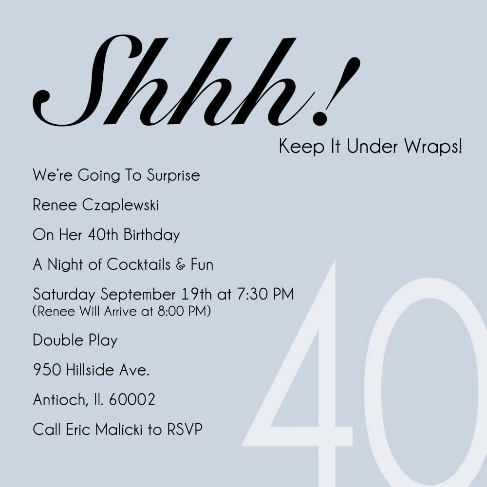 Funny 40th Birthday Party Invitation Wording - Mickey Mouse ...