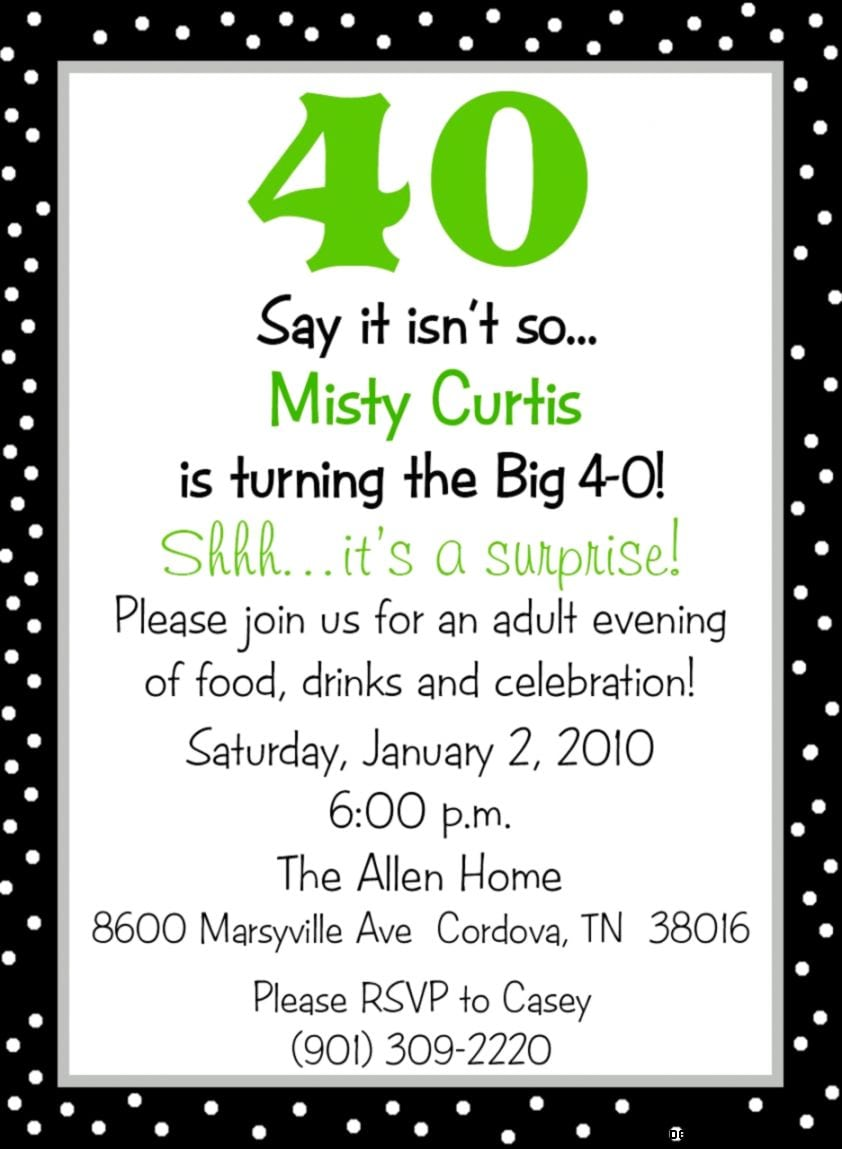 Funny 40th Birthday Party Invitation Wording Mickey Mouse – Funny Party Invite