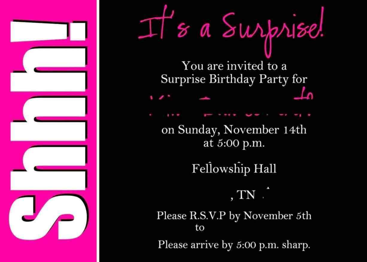 40th Surprise Party Invitations