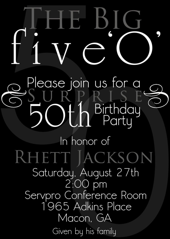 50th Birthday Invitations Elegant 50th Birthday Invitations Hd