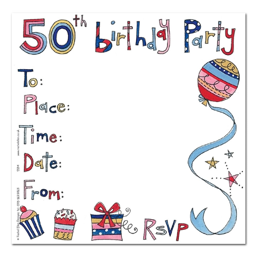 50th Birthday Party Invitations Card
